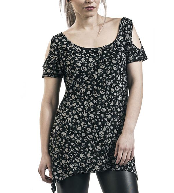 camiseta calavera mujer