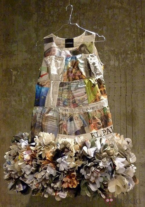 como hacer un vestido de papel