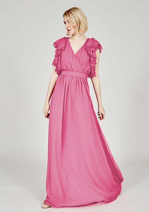 vestidos rosas largos