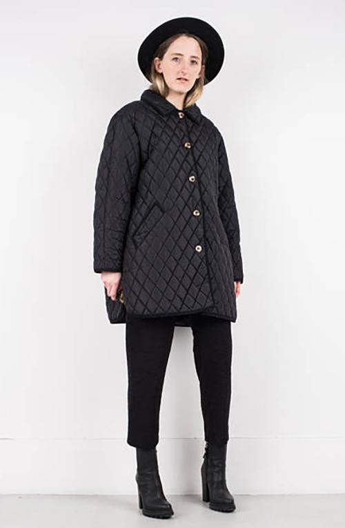 abrigo cuero mujer