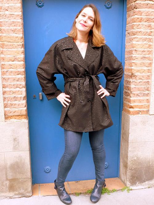 chaqueta piel negra mujer