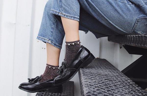 calcetines de tul