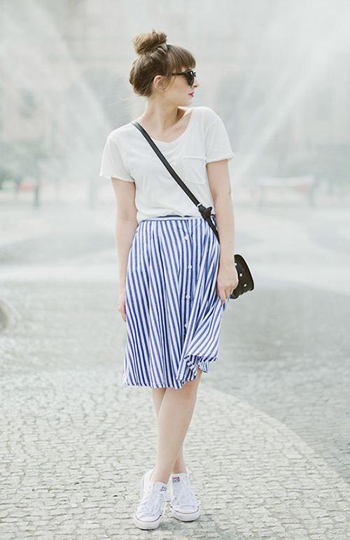falda rayas