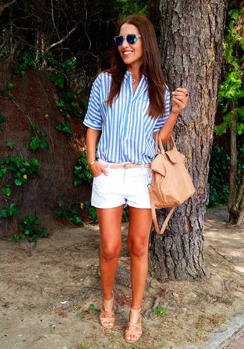 look pantalon blanco mujer
