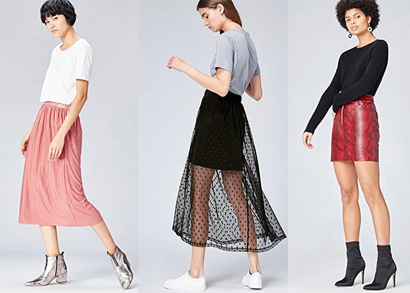 modelos de faldas cortas de vestir Amazon