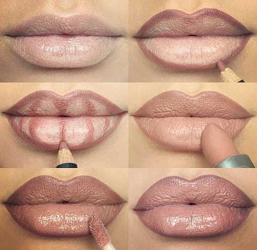 como maquillar los labios para que parezcan mas gruesos