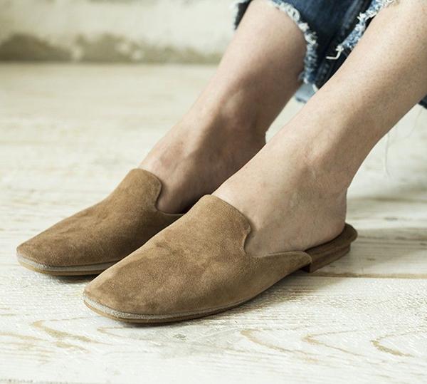 zapato plano negro mujer