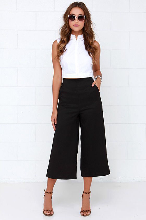 Como Combinar Un Pantalon Negro Pata De Elefante
