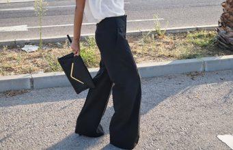 look pantalones anchos