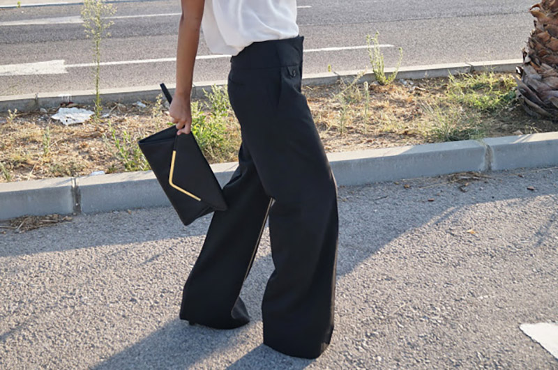 look pantalones anchos