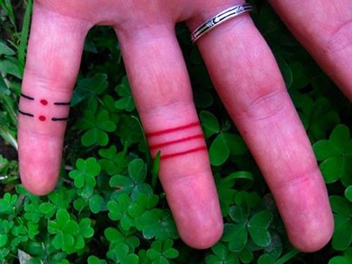tatuaje anillo dedo