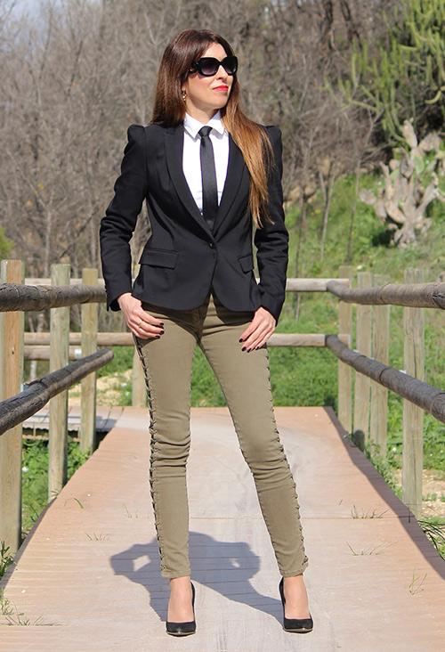 corbatas mujer zara