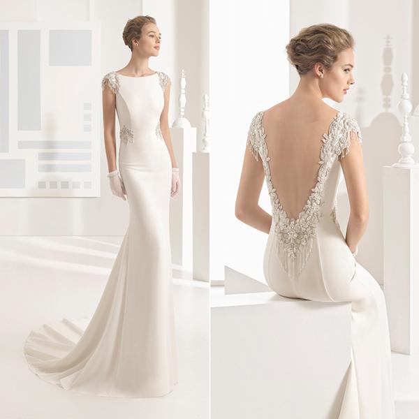 vestido novia escote halter