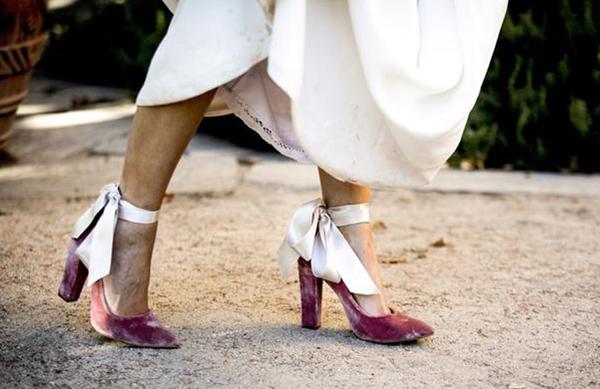zapatos de novia tacon bajo