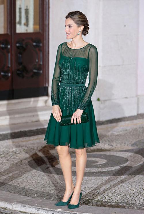 vestido verde elegante