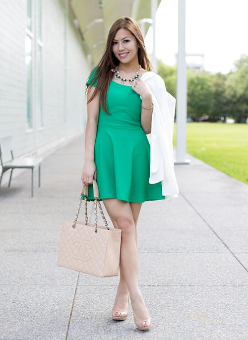 zapatos para un vestido verde