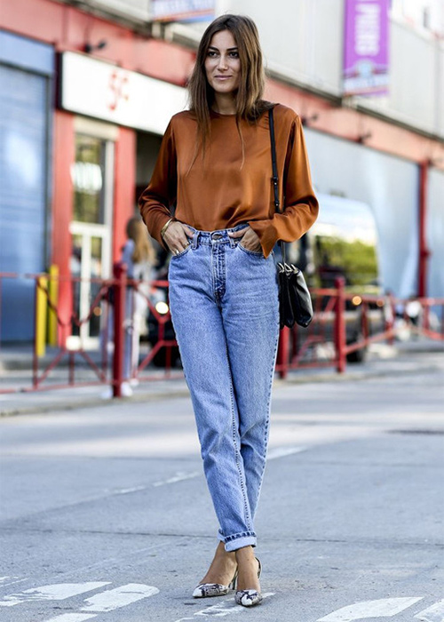 jeans tiro largo mujer