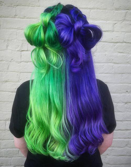 cortes de cabello bicolor