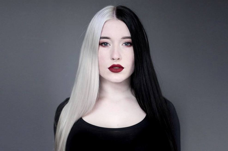 look pelo bicolor