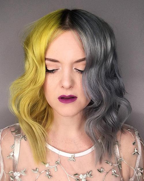 tinte gris mujer