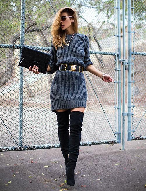 outfit falda negra