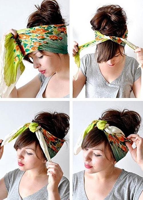 pañuelos en el pelo moda