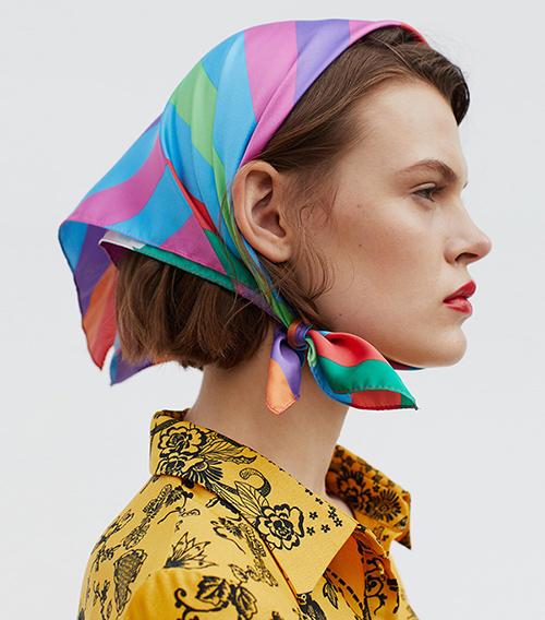 como colocar pañuelos en la cabeza