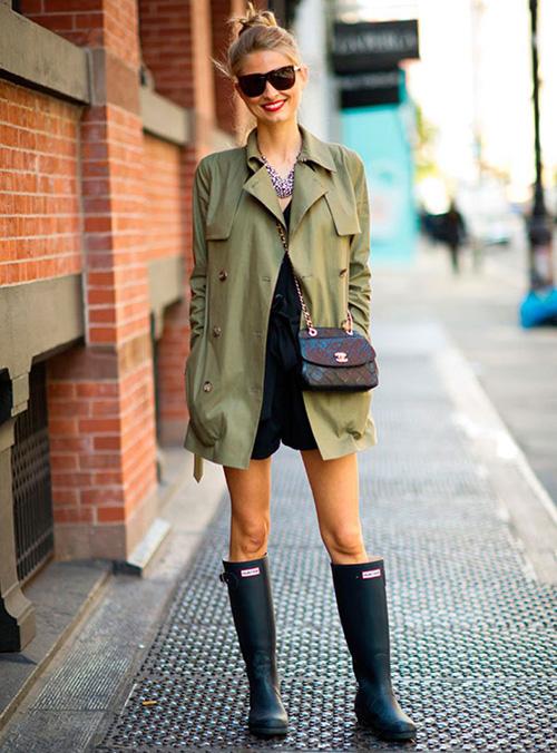 cómo vestir los días de lluvia