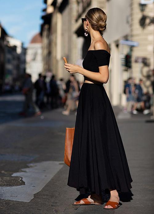 complementar look negro verano