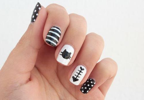 ideas uñas con gatos