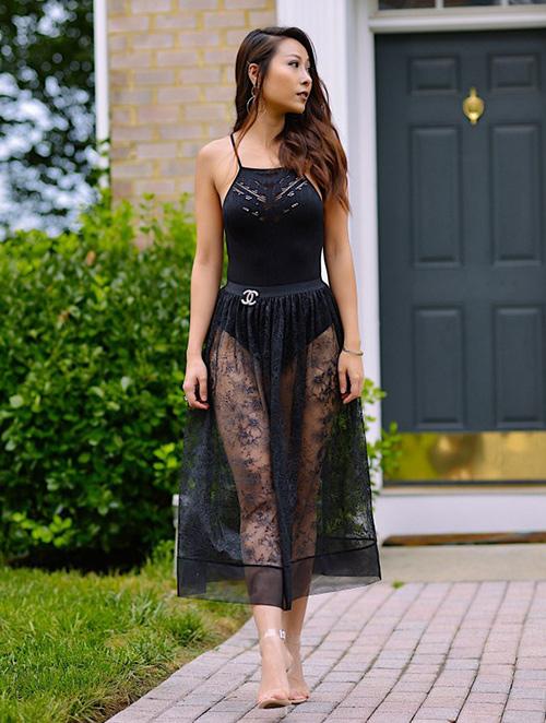 vestir elegante en verano outfit negro