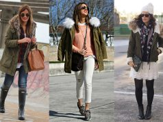 looks parka verde mujer