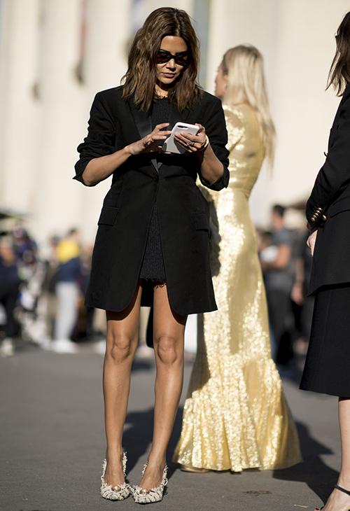 blazer vestido lentejuelas