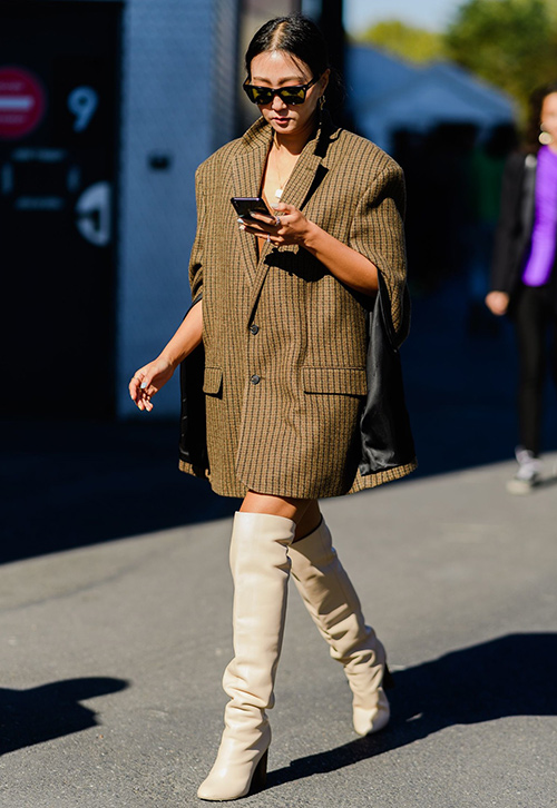 look vestido blazer mujer