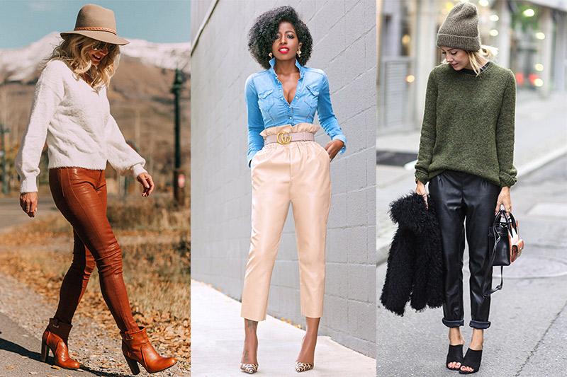 Como Combinar Unos Pantalones De Cuero Para Mujer