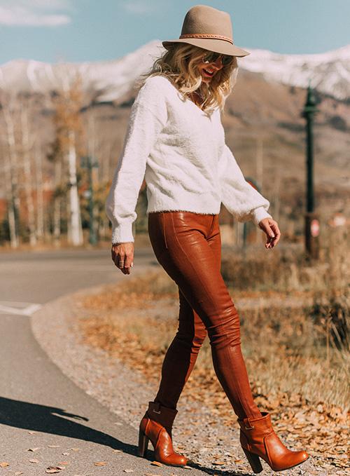 pantalon simil cuero
