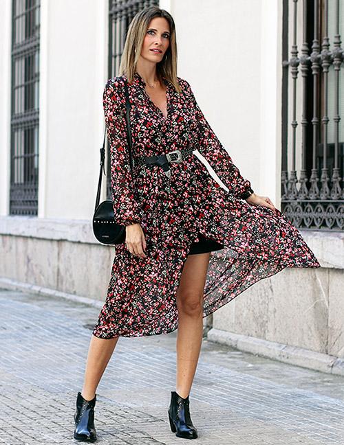 vestidos con botines