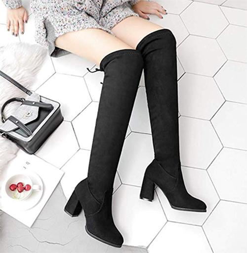 botas por debajo de la rodilla