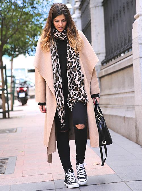 maneras de vestir abrigo invierno