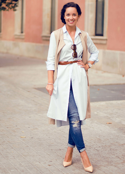 camisa blanca mujer oversize
