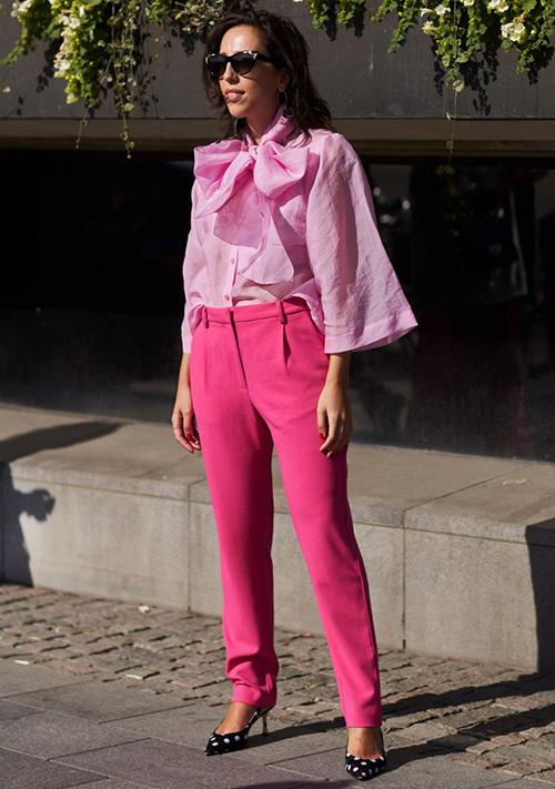 camisa mujer rosa palo