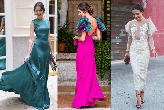 como llevar un vestido largo de fiesta