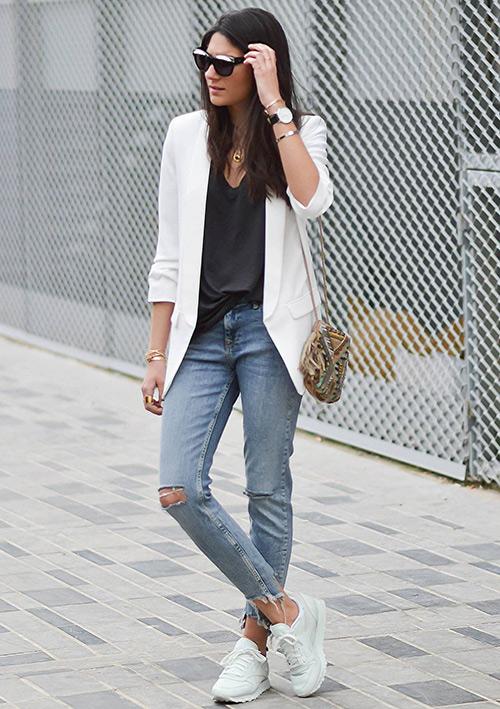 chaqueta blanca mujer