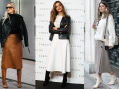 looks con falda midi mujer