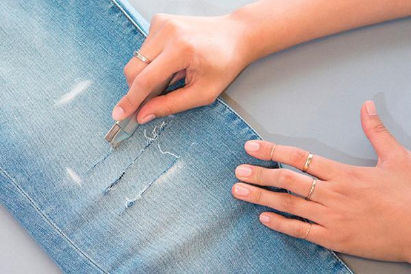 romper pantalones vaqueros