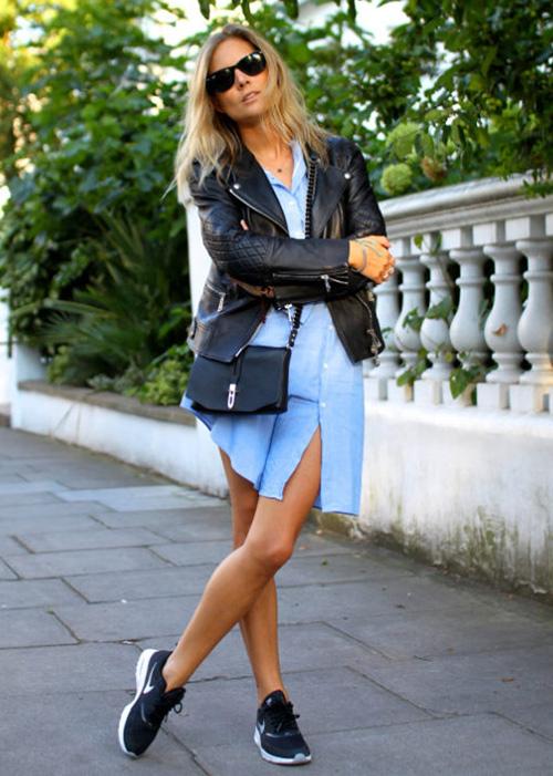 zapatillas negras mujer vestir