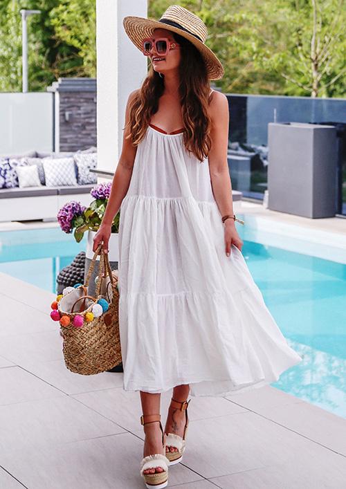 sombrero playa y piscina