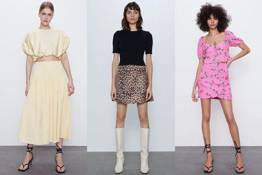 faldas de temporada de Zara