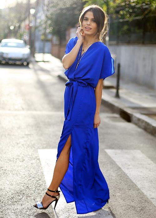 color zapatos para vestido azul electrico