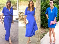 looks vestido azul Klein